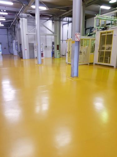 Kunststofvloer fabriekshal met belijning 1