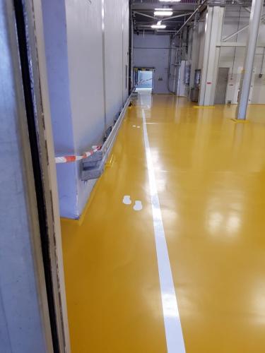 Kunststofvloer fabriekshal met belijning 3