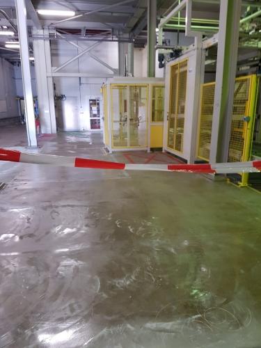 Kunststofvloer fabriekshal voor